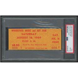 Woodstock Authentic Unused Ticket from August 16, 1969 (PSA 10)