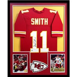 Alex Smith Signed Chiefs 34x42 Custom Framed Jersey (Radtke COA)
