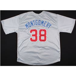 "Mike Montgomery Signed Cubs Jersey Inscribed ""16 WS Champs"" (Schwartz COA)"