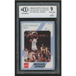 1989-90 North Carolina Collegiate Collection #15 Michael Jordan Basketball (BCCG 9)