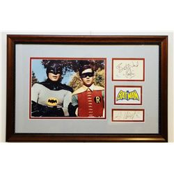 "Adam West  Burt Ward Dual-Signed 14x21 Custom Framed Signature Cut Display Inscribed ""Robin"" with Ph"