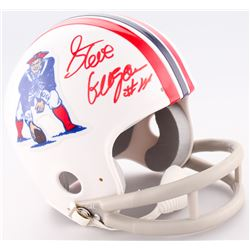 Steve Grogan Signed Patriots Throwback Mini Helmet (LTD COA)