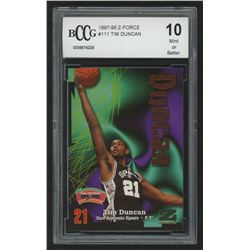 1997-98 Z-Force #111 Tim Duncan RC (BCCG 10)