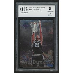 1997-98 Stadium Club #201 Tim Duncan RC (BCCG 9)