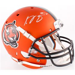 A.J. Green Signed Bengals Full-Size Custom Satin Orange Helmet (Beckett COA)