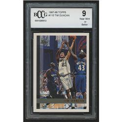 1997-98 Topps #115 Tim Duncan RC (BCCG 9)