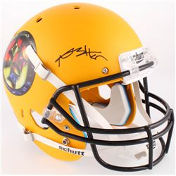 Antonio Brown Signed Steelers Custom Matte Yellow Full-Size Helmet (JSA COA)