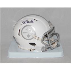 Le'Veon Bell Signed Steelers White ICE Speed Mini Helmet (JSA COA)