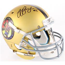 JuJu Smith-Schuster Signed Steelers Full-Size Custom Satin Gold Helmet (JSA COA)