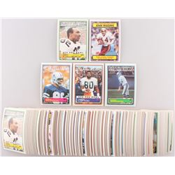 Lot of (475) 1983 Topps Football Cards with #366 John Stallworth PB, #8 John Riggins RB/Most Yards R