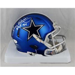 "Tony Dorsett Signed Cowboys Blaze Speed Mini Helmet Inscribed ""HOF 94""  (JSA COA)"