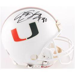 Jeremy Shockey Signed Miami Hurricanes Full-Size Authentic On-Field Helmet (JSA COA)