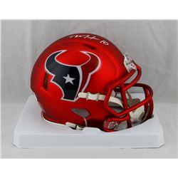 DeAndre Hopkins Signed Texans Blaze Speed Mini Helmet (JSA COA)