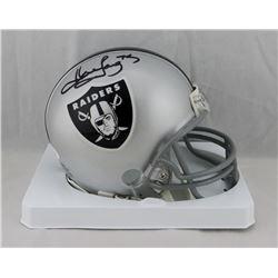 Howie Long Signed Raiders Mini Helmet (JSA COA)