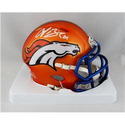 Champ Bailey Signed Broncos Blaze Speed Mini Helmet (Beckett COA)