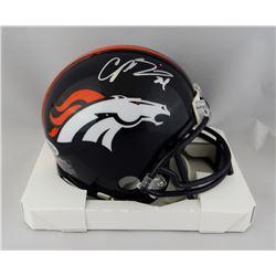 Champ Bailey Signed Broncos Mini Helmet (Beckett COA)