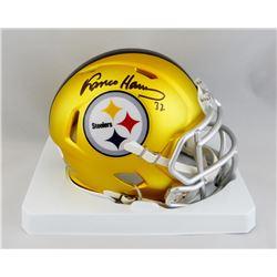 Franco Harris Signed Steelers Blaze Speed Mini Helmet (JSA COA)