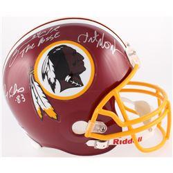 """Art Monk, Ricky Sanders  Gary Clark Signed Redskins Full-Size Helmet Inscribed """"The Posse"""" (JSA COA)"""