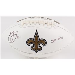 Marshon Lattimore Signed Saints Logo Football Inscribed  2017 DROY  (Radtke COA  Lattimore Hologram)