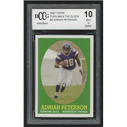 2007 Topps Turn Back The Clock #9 Adrian Peterson (BCCG 10)