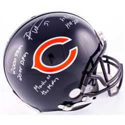 Brian Urlacher Signed Bears Full-Size Authentic On-Field Helmet with (5) Inscriptions (Schwartz COA)