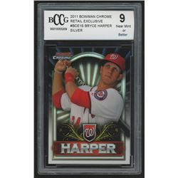 2011 Bowman Chrome Bryce Harper Retail Exclusive #BCE1S Bryce Harper Silver (BCCG 9)