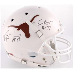 "Earl Campbell  Ricky Williams Signed Texas Longhorns Full-Size Helmet Inscribed ""HT 77""  ""HT 98"" (JS"