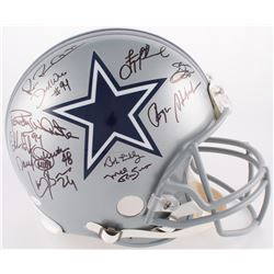 Cowboys Full-Size Authentic On-Field Helmet Team-Signed by (25) With Michael Irvin, Derek Ware, Troy