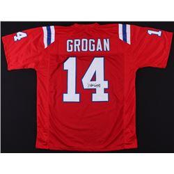 Steve Grogan Signed Patriots Jersey (JSA COA)