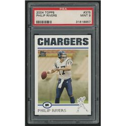 2004 Topps #375 Philip Rivers RC (PSA 9)