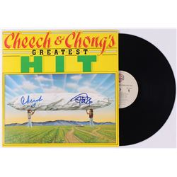 """Cheech Marin  Tommy Chong Signed """"Cheech  Chong's Greatest Hit"""" Vinyl Record Album (JSA COA)"""