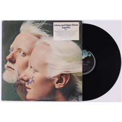 "Johnny Winter Signed ""Together: Edgar Winter and Johnny Winter Live"" Vinyl Record Album (JSA COA)"