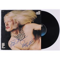 "Edgar Winter  Rick Derringer Signed The Edgar Winter Group ""They Only Come Out At Night"" Vinyl Recor"