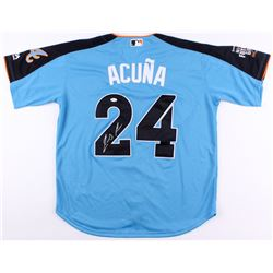 Ronald Acuna Signed 2017 All Star Futures Game Majestic Jersey (JSA COA)