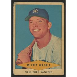 1954 Red Heart #18 Mickey Mantle