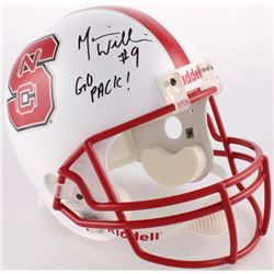 "Mario Williams Signed NC State Wolfpack Full-Size Helmet Inscribed ""Go Pack!"" (JSA COA  Legends Holo"