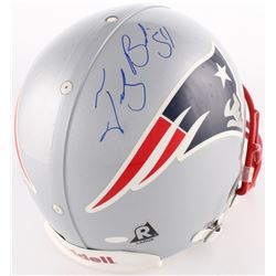 Teddy Bruschi Signed Patriots Full-Size Authentic On-Field Helmet (Steiner COA)