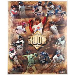 """3000 Hit Club"" 25x30.5 Poster Signed by (11) Including Pete Rose, Stan Musial  Al Kaline (Mead Chas"