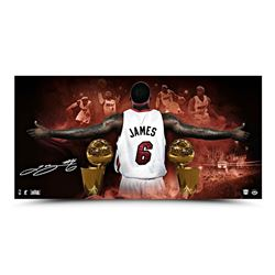 "LeBron James Signed 2013 NBA Finals ""Witness"" 18x36 Limited Edition Photo (UDA)"