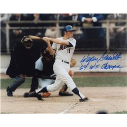 "Wayne Garrett Signed Mets 8x10 Photo Inscribed "" 69 W.S. Champs"" (PA LOA)"