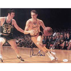 Jerry West Signed Lakers 11x14 Photo (JSA COA)