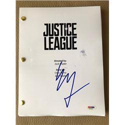 "Erza Miller Signed ""Justice League"" Full Movie Script (PSA COA)"