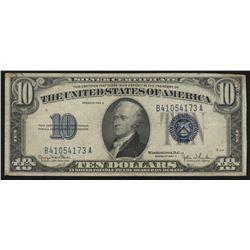 1934-D $10 Ten Dollar Silver Certificate Bank Note