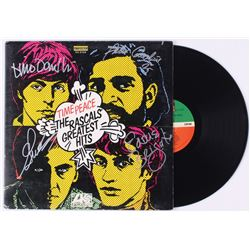 """The Rascals """"Time Peace: The Rascals' Greatest Hits"""" Vinyl Record Album Signed by (4) With Felix Cav"""