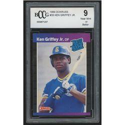 1989 Donruss #33 Ken Griffey Jr. RR RC (BCCG 9)