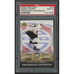 2005-06 Upper Deck Phenomenal Beginnings #19 Sidney Crosby (PSA 9)