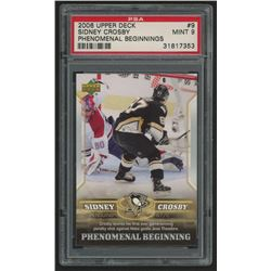 2005-06 Upper Deck Phenomenal Beginnings #9 Sidney Crosby (PSA 9)