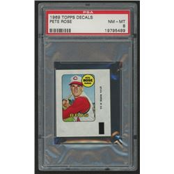 1969 Topps Decals #36 Pete Rose (PSA 8)