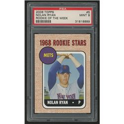 2006 Topps Rookie of the Week #5 Nolan Ryan 68 (PSA 9)
