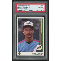 1989 Upper Deck #25 Randy Johnson RC (PSA 6)
